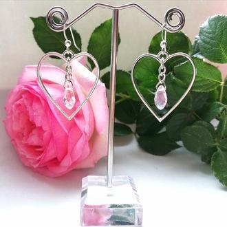 Серьги Crystal Heart