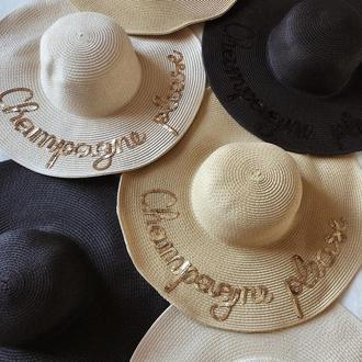 Шляпа из рисовой соломы