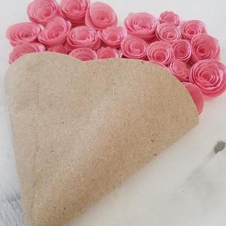Приглашение на свадьбу/день рождения, открытка ко Дню влюбленных, нежно-розовое , сердце