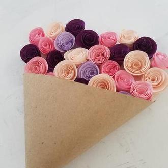 Листівка вітальна серце, рожевий-малиновий-бордо-бузковий