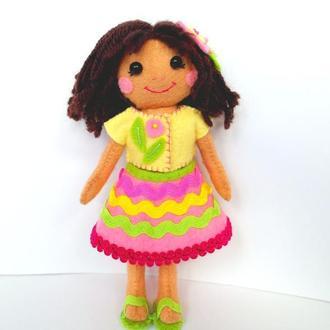 мягкая игрушка - кукла Соломийка
