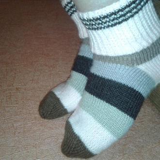 Вязаные носки (женские), шерсть с акрилом размер 39 -40