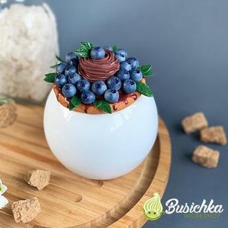 Сахарница с декором сладкая голубка с листиками