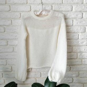 Шикарный свитер из мериноса и кидмохера