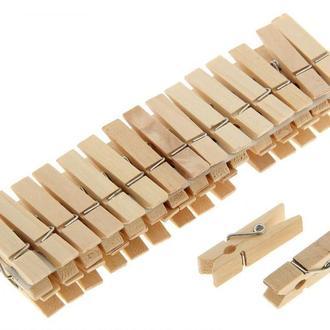 Прищепка Маленькая Деревянная 3,5х1см для Бизиборда Прищепочка Прищіпка для Бізіборда из дерева