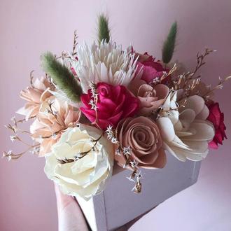 Цветы из Дерева / Цветы для декора / Интерьерные цветы / Букет для подарка