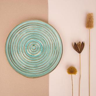Блюдо Alletash Turquoise Swirl. Эксклюзивный подарок для женщин