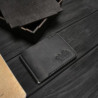 Зажим для купюр VOILE vl-mc6-kblk черный из кожи Краст