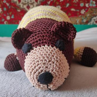 Вязаный медведь, амигуруми , большой мишка