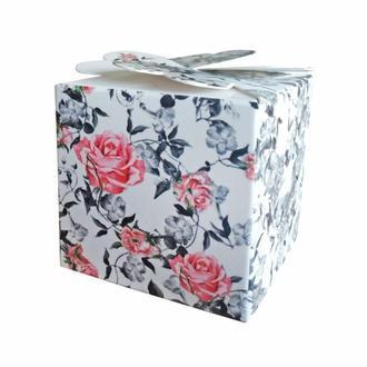 Красивые бонбоньерки с розами (арт. B-127)
