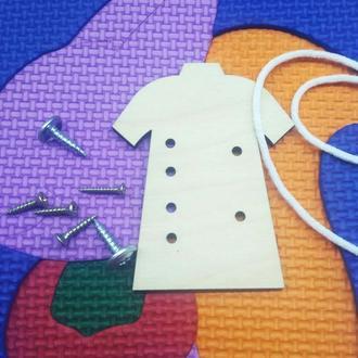 Заготовки для бизибордов футболка шнуровка