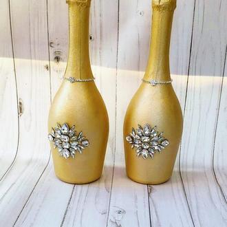 Свадебное Шампанское в цвете Королевское золото