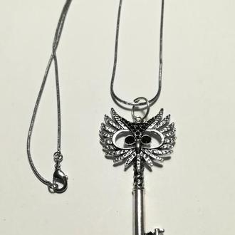 Подвеска Сова - ключик с цепочкой, тм Satori \ Sk - 0038