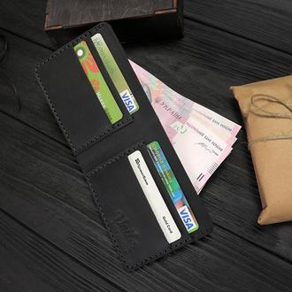 Мужской кожаный бумажник VOILE vl-mw1-blk черный