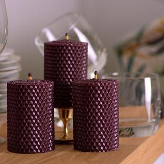 Розкішний подарунковий набір натуральних еко свічок з вощини...для дому та декору
