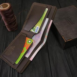 Мужской кожаный бумажник VOILE vl-mw2-brn коричневый