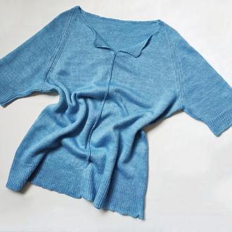 Льняная женская блузка