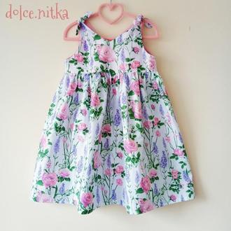 Летнее платье сарафан для девочки