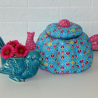 Чайник тильда - пэтчворк шкатулка для чая