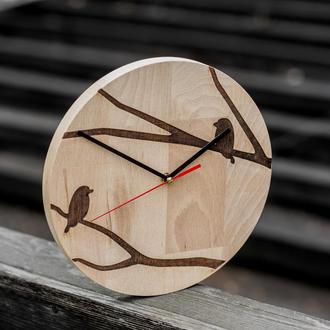"""Настенные часы из дерева """"Flora II"""""""