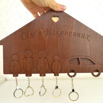 Настенные ключницы вешалки для ключей для дома на 5 брелков