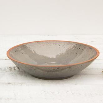 Большой  серый салатник из коллекции «Соната Грей»