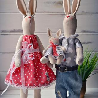Семья зайцев тильда