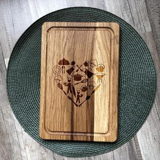 Кухня - сердце дома разделочная доска, доска для подачи из дуба 06