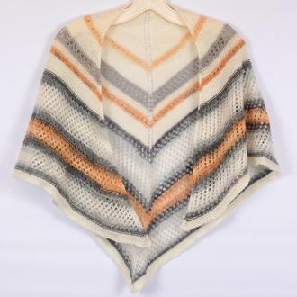 Платок  женский ажурный. Женский шарф. Подарок женщине.Подарунок