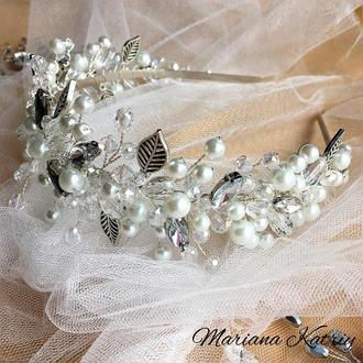 Весільний обруч, ободок для невесты, диадема, прикраси для нареченої