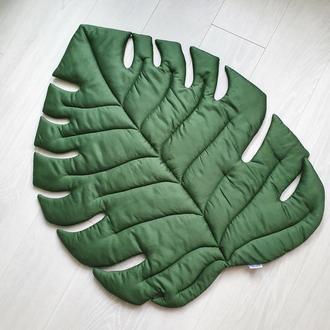 Коврик - листик для детской комнаты в зелёном цвете Tropical