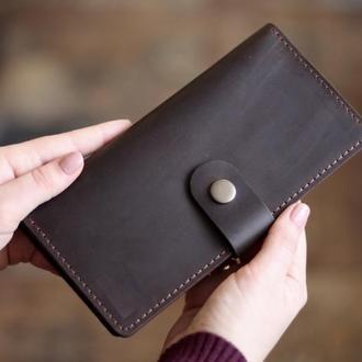 Кожаный кошелек-клатч Milana_вместительный кошелек с отделом для мелочи
