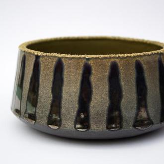 Эксклюзивная пиала ручной работы 400мл Золото | Бронза