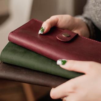 Женский кожаный  вместительный  кошелек на 10 карт_модель Zarina