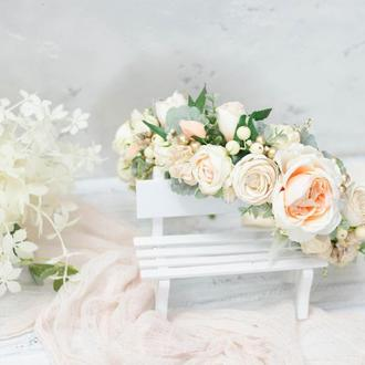 Венок Крем-Беж свадебный
