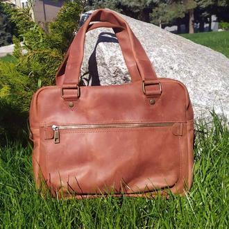 Сумка месенджер, сумка кожаная для документов, сумка для MacBook