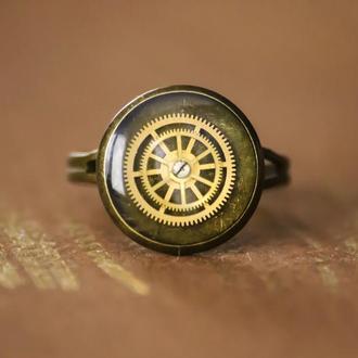 Небольшое кольцо в стиле стимпанк