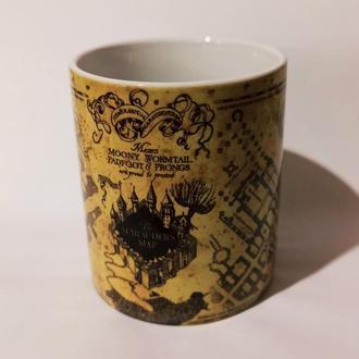 Чашка-хамелеон The Marauders Map Harry Potter