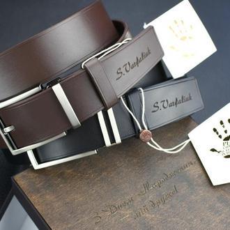 Набор кожаных ремней, Кожаный мужской набор, практичный подарок мужчине, именной кожаный набор