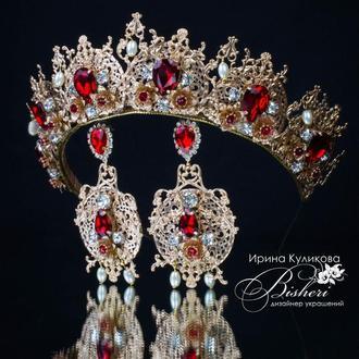 """Корона и серьги  """"Елизавета"""""""