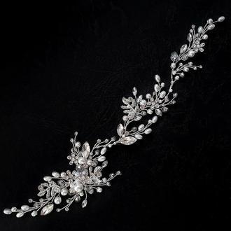 Свадебное украшение для волос, веточка в прическу, венок в прическу, украшение для прически