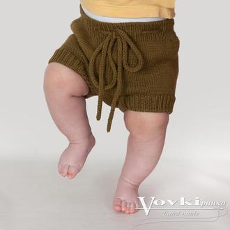 Шорты блумеры вязаные от рождения до 2 лет