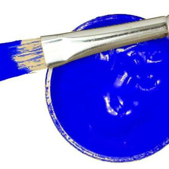 Заготовка для Бизиборда Краска СИНЯЯ Акриловая Эмаль - 2 мл Акрил Синий для Покраски Деревянных
