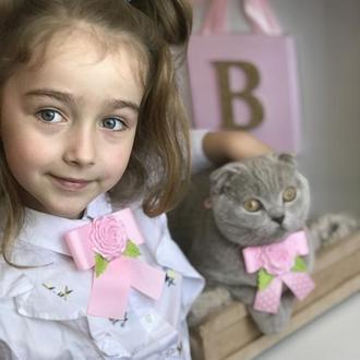 набір галстуків для дівчинки і котика