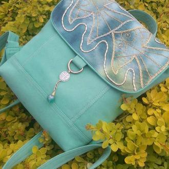Джинсовый летний рюкзак