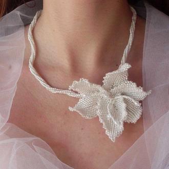 Колье для невесты «Дикая орхидея»