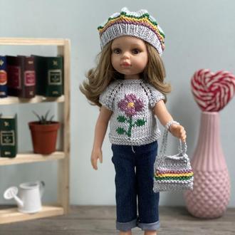 Вязаный Комплект Одежды для Куклы Paola Reina 32 см, Наряд для Паола Рейна