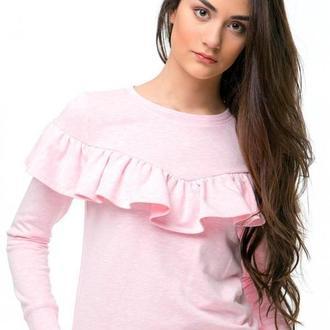 Розовый свитшот с воланом (костюм)