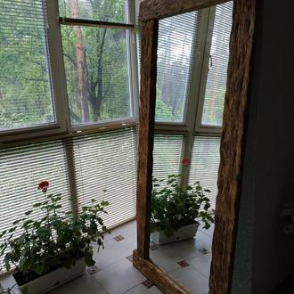 """Зеркало напольное в деревянной раме в стиле """"LOFT"""""""
