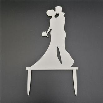 Деревянный топпер для свадебного торта, размер 15х9 см, арт. TPR-016